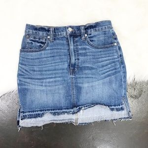 Madewell Released Hem Denim Skirt Medium Wash 27